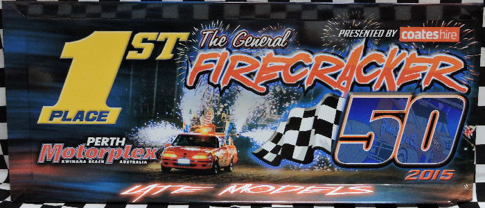 2015 Firecracker 50 Late Models Feature Winner Panel