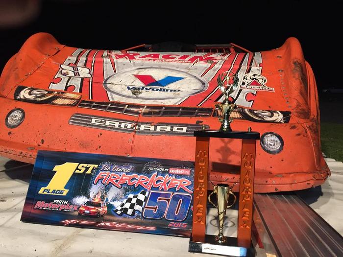 Craig Vosbergen - 2015 Firecracker 50 A Main Winners Award