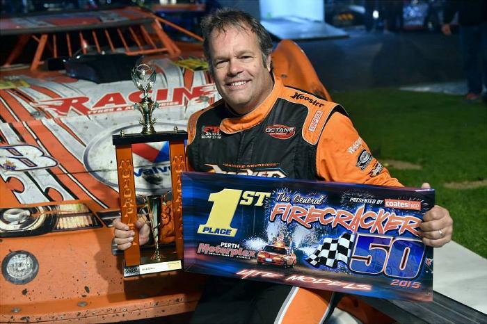 Craig Vosbergen - 2015 Firecracker 50 Late Model A Main Winner