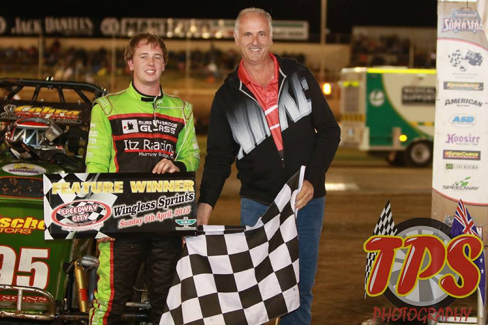 Jarmin Dalitz Wingless Sprints - A Main Winner