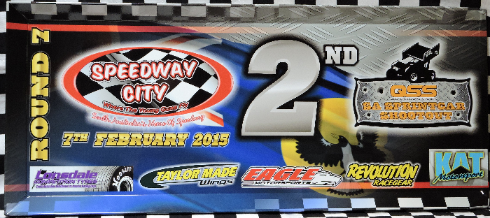 2014-2015 QSS SA Sprintcar Shootout Series Race Event 2nd Place