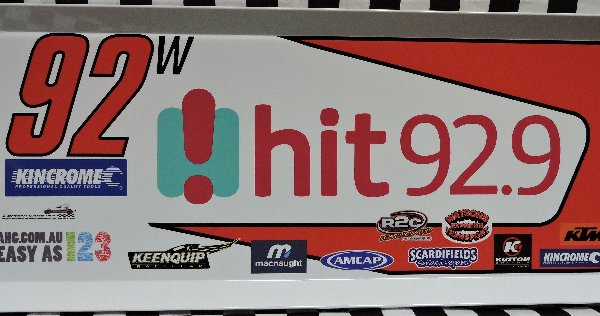 JKW92-1415 – 2015 Jason Kendrick w92 hit 92.9 Top Wing Panel