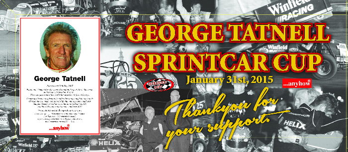 2015 George Tatnell Sprintcar Cup Thank You