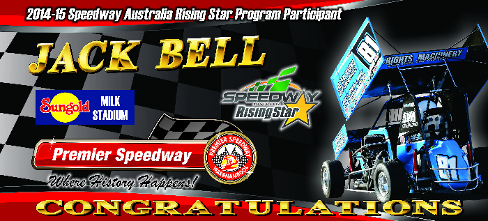 2014-2015 Speedway Australia Rising Star Program Participant - Jack Bell