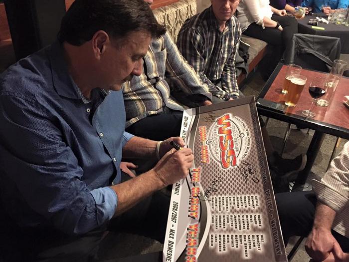 Tony Bartlett signing the WSS Reunion Panel