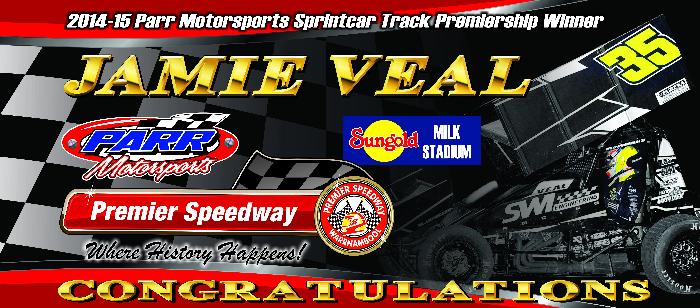 2014-2015 Parr Motorsports Sprintcar Track Premiership Winner - Jamie Veal