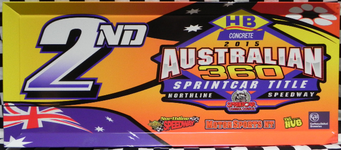 2015 Australian 360 Sprintcar Title 2nd Place Panel