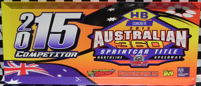 2015 Australian 360 Sprintcar Title Competitor Panel