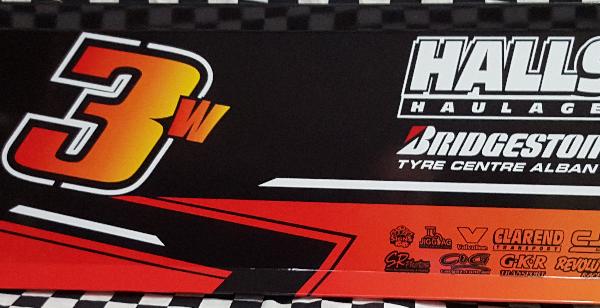 SLW3-1617 – 2017 Steven Lines & Halls Motorsport w3 Top Wing Panel