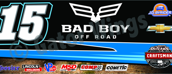 DSUSA15-2015 – 2015 Donny Schatz USA15 Bad Boy Blue Top Wing Panel