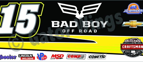 DSUSA15-2016 – 2016 Donny Schatz USA15 Bad Boy Yellow Top Wing Panel