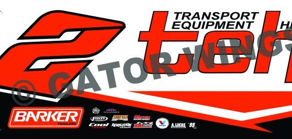 BTW2-1617 – 2016 Brooke Tatnell Krikke MotorSport w2 Top Wing Panel