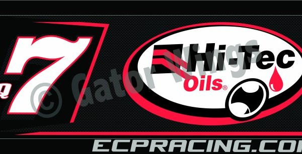 RFBQ7-1819 – 2018 Robbie Farr Q7 Hi-Tec Oils Black Top Wing Panel