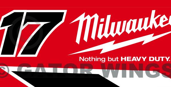 JMcFW17-1617 – 2017 James McFadden W17 Monte Motorsport Sprintcar Team Top Wing Panel