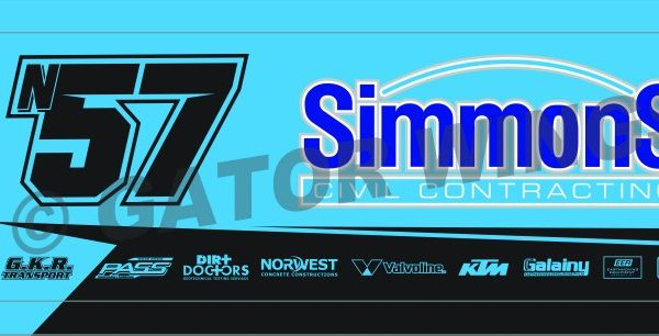 MDN57-1819 – 2018 Matt Dumesny n57 Simmons Civil Contracting Top Wing Panel