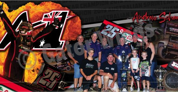 ASAUS1W-1920 – 2019 Andrew Scheuerle A#1 Sprintcar Title Win Top Wing Panel